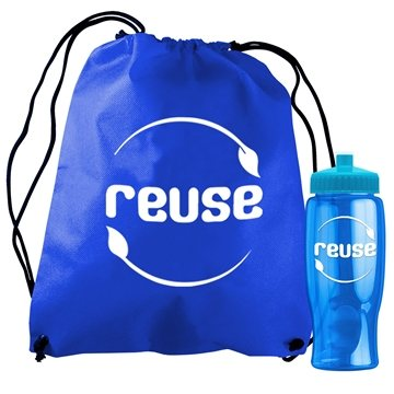 Promotional non-woven-drawstring-backpack-in-a-bottle-kit