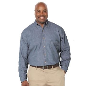 Sierra Pacific Long Sleeve Denim Shirt Tall Sizes