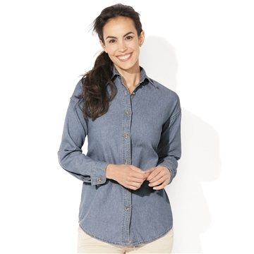 Promotional Sierra Pacific Ladies Long Sleeve Denim Shirt