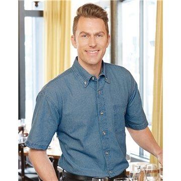 Promotional Sierra Pacific Short Sleeve Denim Shirt