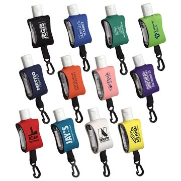 Cozy Clip 1/2 Oz Convenient Hand Sanitizer With Multiple Color Choices