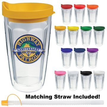 16 oz Thermal Travel Tumbler with Emblem