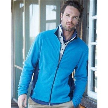 Promotional Colorado Clothing - Colorblocked Full - Zip Microfleece Jacket
