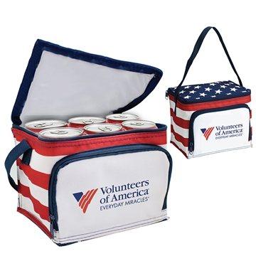 America Stars N Stripes 6 Pack Cooler