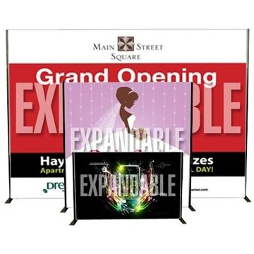 Banner with Expandable Stand