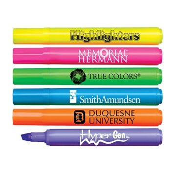 Promotional Brite - Spots(R) Fluorescent Barrel Jumbo Highlighter with Broad Chisel Tip - USA Made