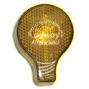 Promotional light-bulb-light-up-safety-reflectors