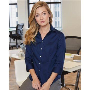 Van Heusen Ladies' 3/4-Sleeve Baby Twill Shirt