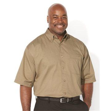 Sierra Pacific Short Sleeve Cotton Twill Shirt Tall Sizes