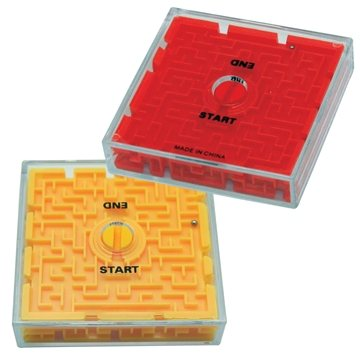 Promotional 2- Sided Maze Puzzle - Yellow or Red