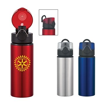 25 oz Aluminum Sports Bottle With Flip Top Lid