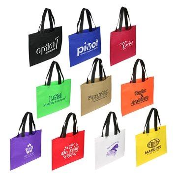 Non Woven Multi Color Shopper Landscape Tote Bag 15.5'' X 12''
