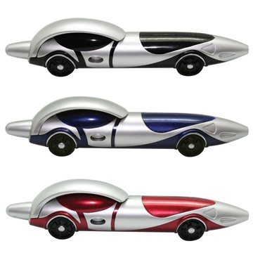 Race Ballpoint Clicker Car Pen: Red, Black or Blue
