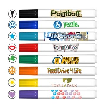 Promotional Stamperoos - Washable Ink Stamping Markers - Full Color Decal Print - USA Made