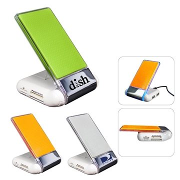 Silicone Foldable USB Hub/Card Reader