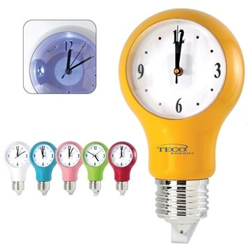 Promotional light-bulb-wall-clock