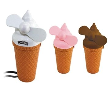 Promotional Ice Cream Fan With Lanyard