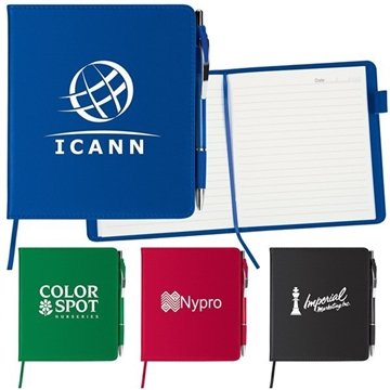 Promotional 5-1/4 X 6 Slim Leatherette Notebook / Combo