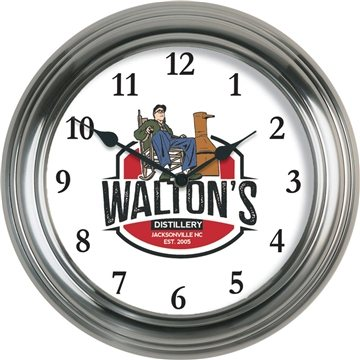 Metal Wall Clock — 13 3/8'' Diameter