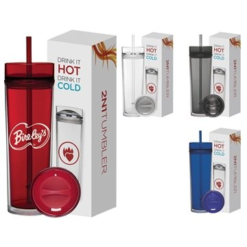 16 oz Tube Tumbler Hot & Cold Gift Set
