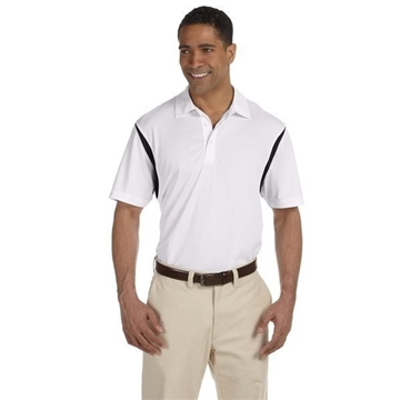 Promotional Harriton 3.8 oz Back Blocked Micro Piqu Polo