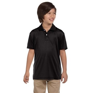 Promotional Harriton Youth 3.5 oz Double Mesh Sport Shirt