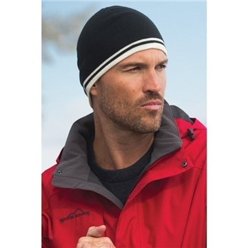 Port & Company Fine Knit Skull Cap with Stripes