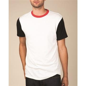 Promotional Alternative Eco - Jersey Colorblock Crewneck T - Shirt
