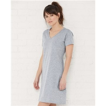 Promotional lat-ladies-fine-jersey-v-neck-coverup