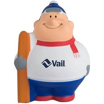 Skier Bert Squeezies Stress Reliever