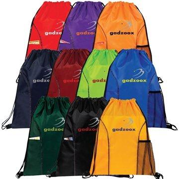 Dual Pocket Drawstring Bag