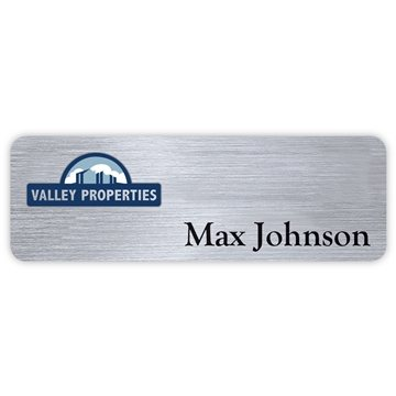 Hollywood Standard Name Badge: 1'' x 3''