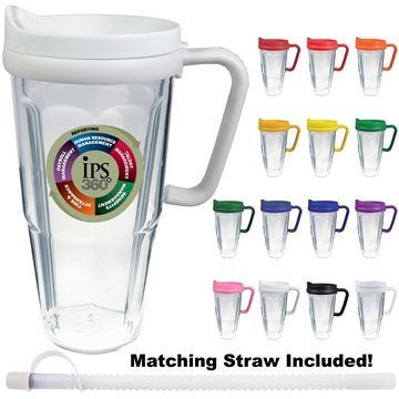 24 oz Thermal Travel Mug with Decal
