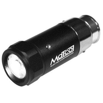 Promotional Rechargeable LED Auto - Plug Flashlight with Aluminum Housing