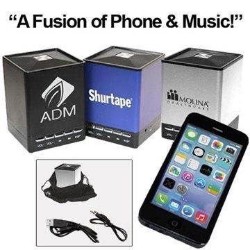 ''PHUSIC'' Bluetooth Mini Speaker with Speakerphone Function