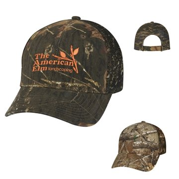 Realtree™ And Mossy Oak® Hunter's Retreat Mesh Back Camouflage Cap