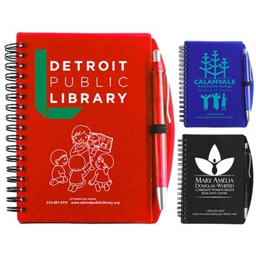 Pen Jotter with Carmel Notebook Notepad