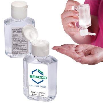 Gel Hand Sanitizer in Square Bottle - 2 oz