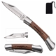 Promotional Small Rosewood Pocket Knife - Silver