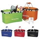 Promotional Polyester Multi Color KOOZIE Easy Storage Picnic Basket 19 X 9.75