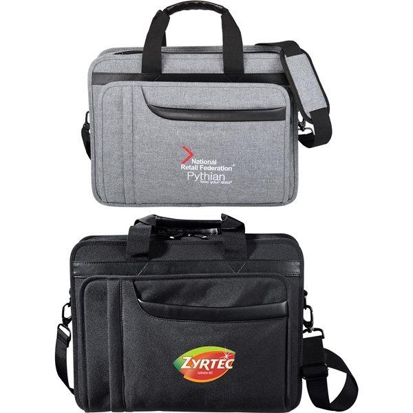 Promotional Polycanvas Paragon Compu - Brief Bag 17 Laptop