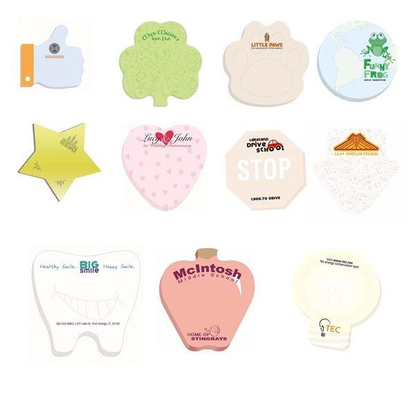 Promotional 3 x 3 Adhesive Die Cut Notepads 25 sheet pad