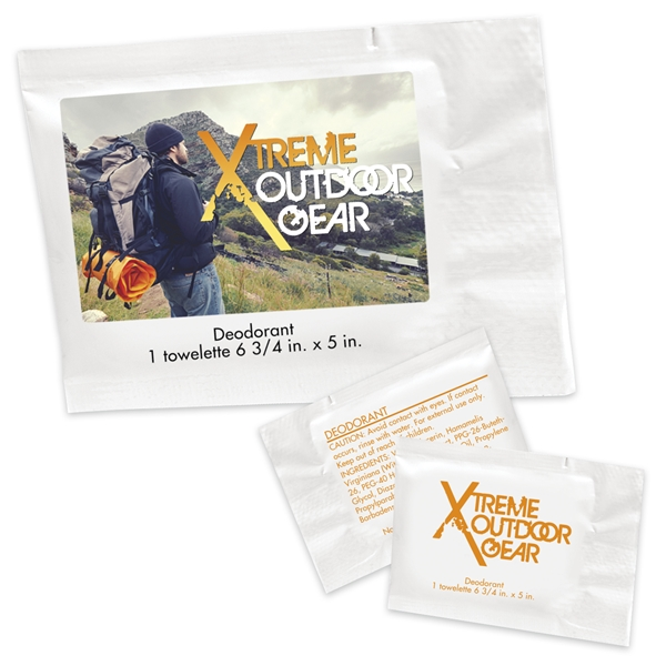 Promotional Deodorant Towelette Packet