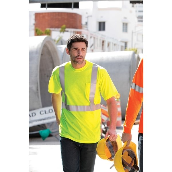 Promotional CornerStone ANSI Class 2 Safety T - Shirt
