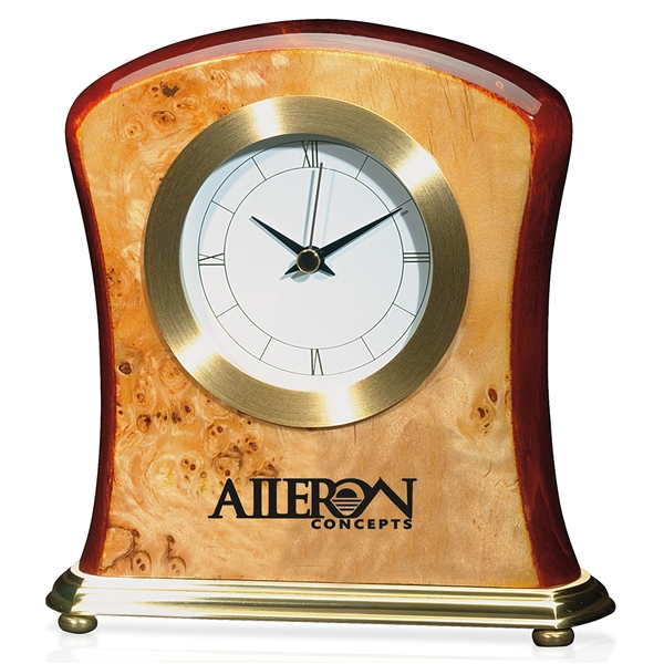 Promotional Burlwood Clock