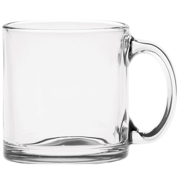 13 Oz Clear Glass Coffee Mug Business Giveaways Glassware