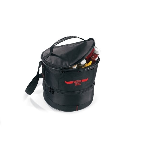 Promotional Chill And Grill Black Outdoor Kit With Portable Grill Large Cooler