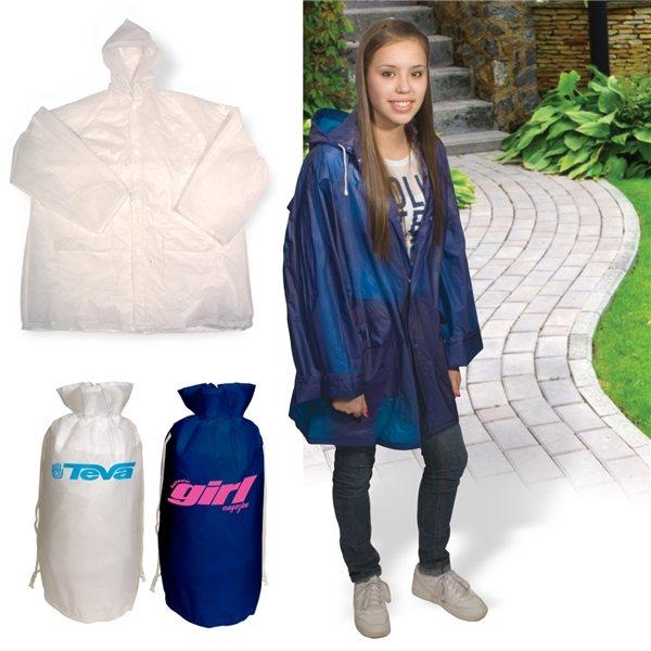 Promotional Rain Slicker - In - A - Bag