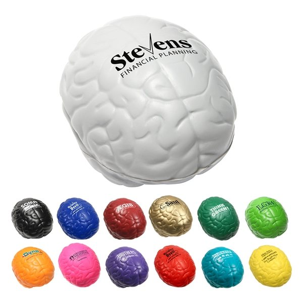 Promotional Multi Color Custom Brain Stress Reliever