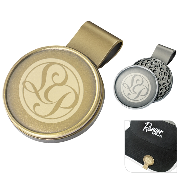 Promotional Steel Hat Clip With Ball Marker